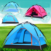 Wholesale Automatic Outdoor Pink Camping Tent Person Beach Fishing Awning Quick Opening Sun Shade Waterproof PU3000 TNT