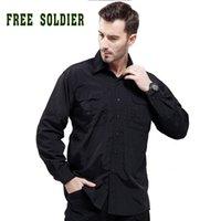 Wholesale amping Hiking Shirts FREE SOLDIER camping fishing Shirt men outdoor tactical shirt quick drying shirt Men clothing instant Waterproof shi