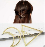 african american hair shop - Europe and the United States of big shop sign triangle exaggerated the moon hairpin geometric modelling side clip hair accessories