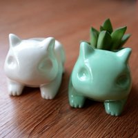 ceramic flower pots - Glazed Ceramic Flower pots planters cute animal design home decor x8cm