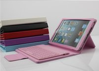 Wholesale Hot Selling Wireless Bluetooth Keyboard Cover PU Leather Covert with Stand for ipad mini