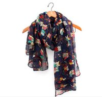 bay owl - All Season Winter Autumn Scarf Fashion Lady Female Owl Scraves Warm Hot Sale On Bay Mix Colours