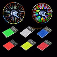 bicycle stripe sticker - 12X Bicycle Siphonate Reflective Wheel Stripe Spoke Reflector Safe Sticker Decal