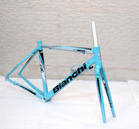 Wholesale BY EMS C Road bike frame inch frameset ultralight aluminium alloy road bike frame carbon fork TIME LIMITED