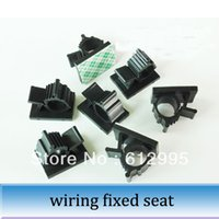 adhesive tie mounts - 100pcs Adjustable wiring block glue type adhesive tie mount active binding wire clip
