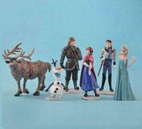 Wholesale 600pc Frozen Anna Elsa Hans Sven Olaf PVC Action Figures Toys Classic Toys Top Quality Hot Sale Z347