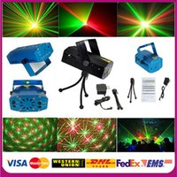 Wholesale Free DHL Mini Red Green Moving Party Stage Laser Light lighting Projector with tripod laser DJ party disco light mW V
