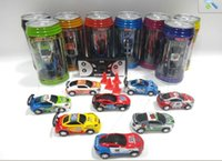 Wholesale 60Pcs Cheap Mini Coke Can RC Radio Remote Control Micro Racing Car Hobby Vehicle Toy Christmas Gift DHL