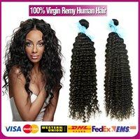 Cheap #1B 6A Grade 3pcs Brazilian Virgin Hair Deep Wave Hair Remy Brazilian Hair Weave Bundles Brazillian Deep Wave hair