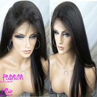 Wholesale Indian Virgin Hair Glueless Full Lace Human Hair Wigs For Black Women A Grade Straight Glueless Lace Front Wigs With Baby Hair