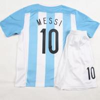 kids football shirts - Kids Youth Argentina Mixed Team Short Sleeves Football Shirt Kits Soccer Jersey Fusbal Camisa Camiseta