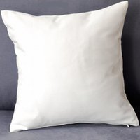 Wholesale plain white color pure cotton twill cushion cover with hidden zip for custom DIY print blank cotton pillow cover any color
