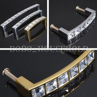 Wholesale Cabinet Drawer Cupboard Wardrobe Square Knob Diamond Plastic Crystal Handle Pull