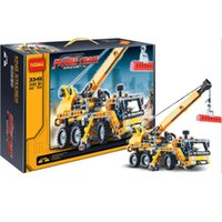 toy tow trucks - Decool High TTECHNIC MINI MOBILE CRANE TOW TRUCK VEHICLE Model building block toys for Children birthday gifts