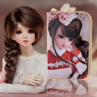 baby doll photos - Girls SD Cute Baby Doll Coin Card Purses kids Snow Queen wallet children Princess money bag for Women