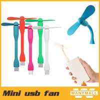 Wholesale 2015 New fashion summer cooler Flexible USB Portable Mini Fan Xiaomi USB Fan style For Power Bank Notebook Laptop Computer Power saving