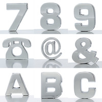 abs number - New ABS Plated Car Stickers Decals Number Style Motorcycle Accessories Cover Stickers QBX