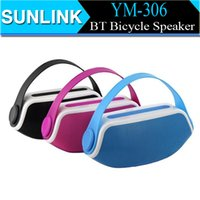 Cheap YM-306 Mini Bluetooth Speaker Portable Wireless Outdoor Bicycle Subwoofers Handle Speakers Hands-free 2200mAh Battery Mic for iPhone 6 Plus