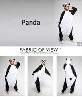 Wholesale 2015 New Fashion Panda Kigurumi Pajamas For Adult Anime Cosplay Costume Unisex New Animals Lovely Onesie Sleepwear