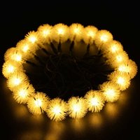 outdoor solar christmas lights - Solar Outdoor String Fairy Lights ft LED Ball for Homes Party Decoration Waterproof LED Warm White