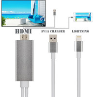 av iphone cable - 2016 P Dock Connector to HDMI Adapter AV Cable HDTV TV AUDIO for iphone s s plus