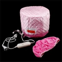 Wholesale Newest Pink Hair Thermal Treatment Beauty Steamer SPA Cap Hair Care Nourishing Fashion Salon Beauty Hair Care Cap Heating Cap Easy to Use