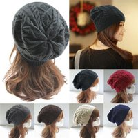 hat lady red - New Arrivals Unisex Men Womens Ladies Beanie Slouch Hats Ski Caps Baggy Wool Knitted Braided Fashion Colors PX153