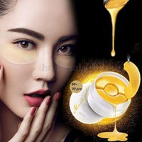 Wholesale Gold Aquagel Collagen Mask Remove Eye Bag Dark Circles Crow Anti Wrinkle