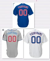 baseball shirts custom - NEW Stitched Custom Men s Baseball Jersey Chicago CUBS Blank Cool Base Jersey Shirt
