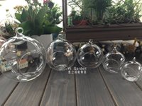 glass decor - 4pcs cm cm cm cm Hanging Air Plant Terrarium Glass globe tea light holder For Housewarming Gift or Home Decor candlestick