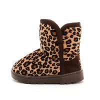 Wholesale 2015 Baby girls boots children snow boots plus velvet leopard factory direct children shoes boys warm A0201