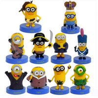 Wholesale 2015 New Cartoon Minions PVC Action Figure Model Toy brinquedos Office Desk Decoration set