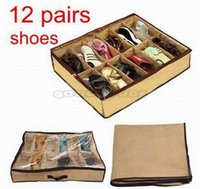 Wholesale New Shoe Store Bag Box Under Bed Shoes Organiser Storage Tidy Fits Pairs Pockets