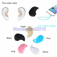 Wholesale S530 Mini in ear Wireless Bluetooth Earphones Headsets Hifi Stereo Headphones Microphone for iphone Plus S for S6 Edge for LG