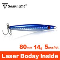 fishing sinker lead - SeaKnight Brand g Sinker Jigging Fishing Lure mm Laser Luminous Lead Metal Jig head Artificial Carp Hard Bait with VMC Hooks