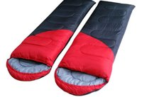 Wholesale Splicing Double Camping Sleeping Bags For Summer Winter All season CM Cotton Portable sleeping bags for couple lovers