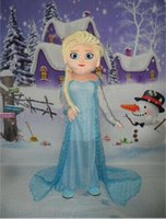Wholesale Real Pictures The Frozen Movie Elsa Mascot Costume Promotions