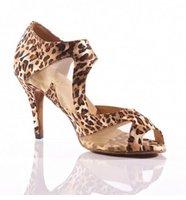 ballroom latin dance shoes - Women Leopard satin mesh Ballroom LATIN Dancing Shoes SALSA Dance Shoes Tango Shoes Samba Dancing Shoes