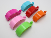 banana crafts - 8 Mixed Color Plastic Banana Clips Hair Claw Ponytail Holder mm for DIY Craft