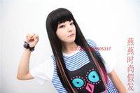 Wholesale High temperature wire punk cosplay neon gradient color multicolour wig piece