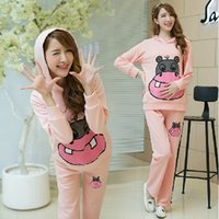 Wholesale The new autumn and winter fashion pregnant women suit sports suit genuine maternity leaves Jiao children