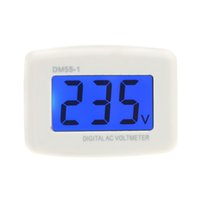 Wholesale New DM55 LCD Digital Volt Meter Voltmeter EU Plug Electric Pen Meters Voltage Testers AC V Electrical Instruments H14358