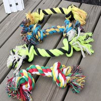 Wholesale Dog Toys PETS x Fun Pet Chew Knot Toy Cotton Braided Bone Rope Color Puppy Dog Pets