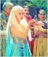 Wholesale 2015 Daenerys Targaryen Hair Wigs Holloween Wigs Cosplay Wigs Daenerys Targaryen Hair Style The Game Of Thrones Long Hair Wigs