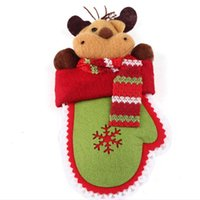best christmas ornaments - Indoor Christmas Decoration High Quality Deer Santa Claus Christmas Snowman Christmas Gloves New Year Best Accessories