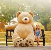 achat en gros de gros ours en peluche enfants-200CM 78''inch géant peluche ours en peluche grand grand énorme peluche en peluche en peluche douce enfant enfants fille poupée cadeau de Noël