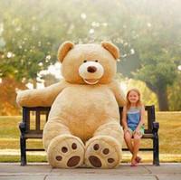 al por mayor niños grandes oso de peluche-200CM 78''inch gigante peluche de peluche grande grande enorme peluche de color marrón relleno suave niño de juguete niños muñeca chica regalo de Navidad