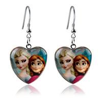 anna jewelry designer - 2014 New Designer Frozen Elsa Anna Heart Dropper Earrings Jewelry Cartoon Girls Fashion Gift JJAL E39