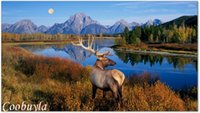 Cheap Top Quality Huge Realistic Animal Oil Painting Deer ELK PEOS069 Modern Wall Canvas Art Prints Cool Home Decor Hot Sale