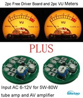 Wholesale 2pc Free Driver Board and pc VU Meters Kit Input AC6 V Warm Backlit Sound Level Meter Amplifier Accessories DIY